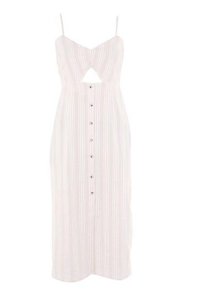 Topshop dress shift dress pale midi pink