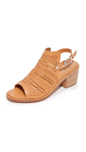 Rag & Bone Wyatt Mid Heel Sandals - Natural