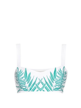 top embroidered cropped white