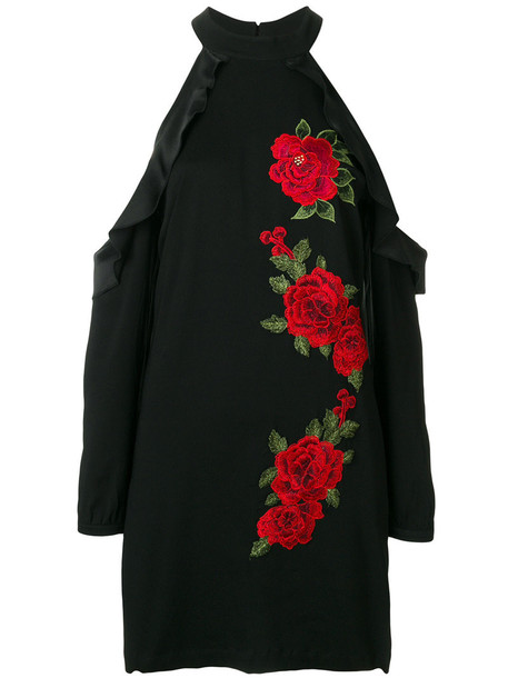 dress embroidered dress embroidered rose women spandex cold black rose embroidered