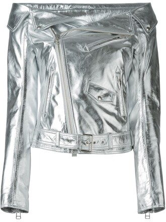 jacket leather jacket leather metallic