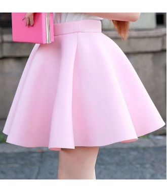 skirt skater dress pastel skirt pastel pink girly pink pink skirt rose cute pleated skirt