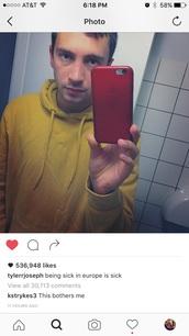 sweater,yellow,tyler joseph