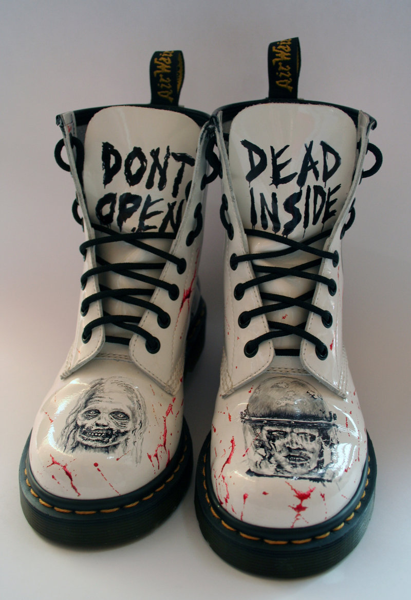 The Walking Dead customised Dr Martens Front