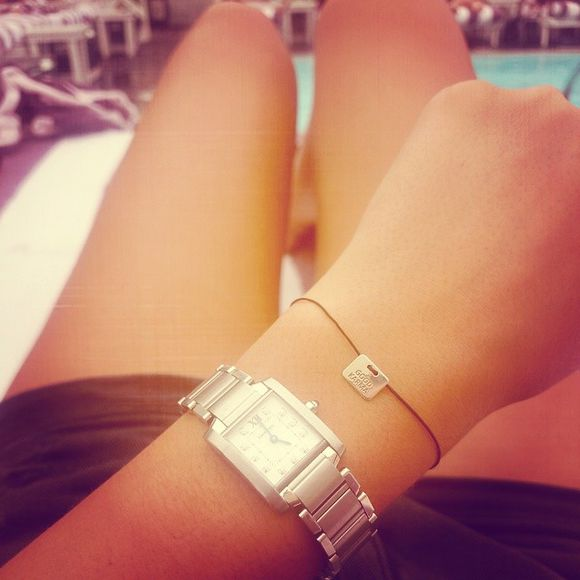 string jewels simple karma bracelet good karma bracelets watch silver silver watch karma pretty bracelet relax pool tanned holiday lucy watson instagram
