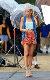 blue t-shirt,tank top,shoes,t-shirt,skirt,shirt,turquoise,gossip girl,gossip girl shirt,serena van der woodsen