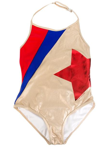 Little Marc Jacobs - Golden one-piece swimsuit - kids - Elastodiene/Polyamide/Polyester/Spandex/Elastane - 4 yrs, Grey in metallic