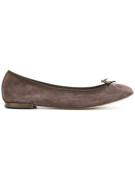Repetto bow women leather suede brown shoes