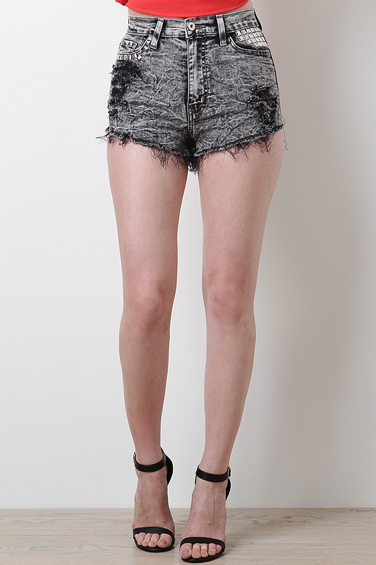 Rebellious Queen High Waisted Shorts