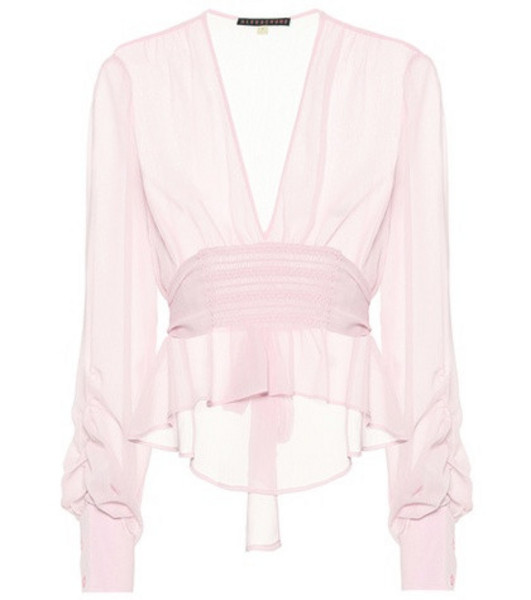 AlexaChung Crêpe blouse in pink