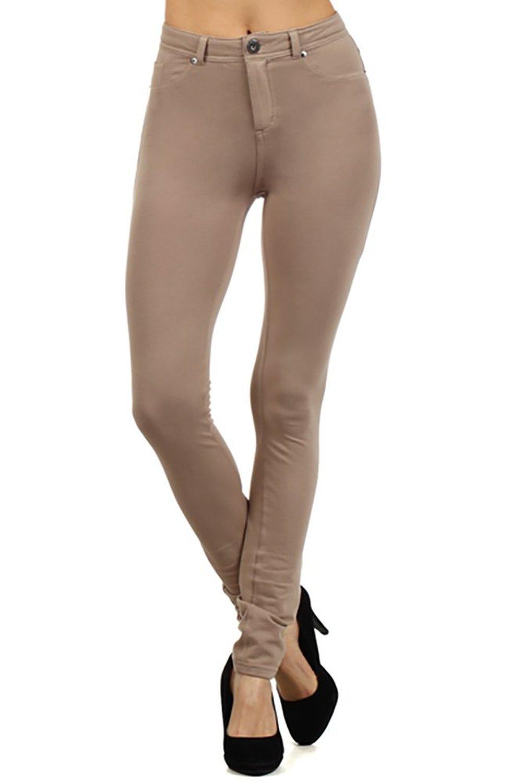 Toyou apparel women's moleton colors pants basic skinny leg stretch cotton jeggings at amazon women's clothing store: