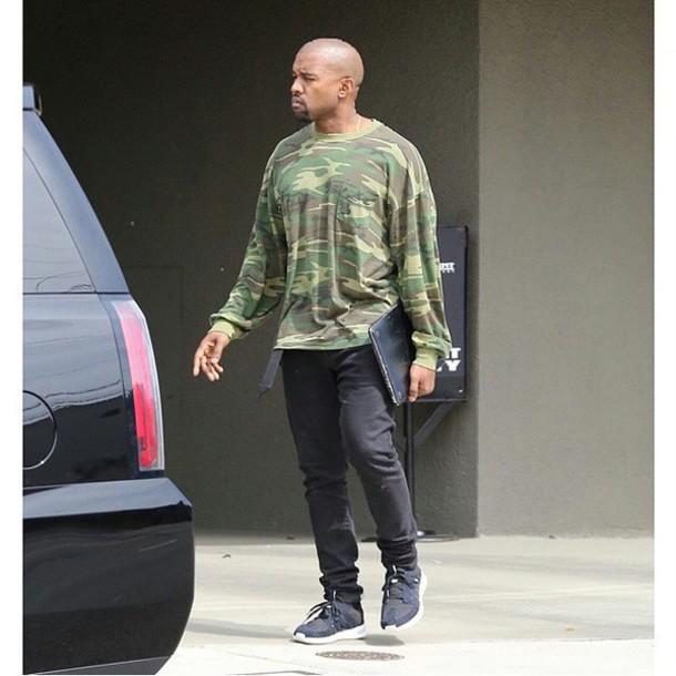 Sweater Camouflage Kanye West - Wheretoget
