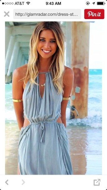 dress maxi dress blue dress summer dress