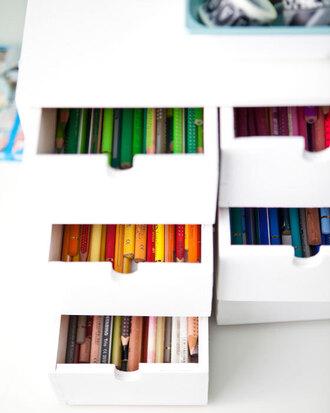 stationary pencils storage makeup drawers home accessory pencil case shelf ikea white organizer desktop