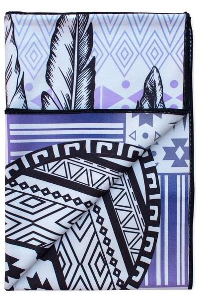 2ac32e6676ec7 home accessory black microfiber print purple towel vagabond goods white  yoga towel bikiniluxe