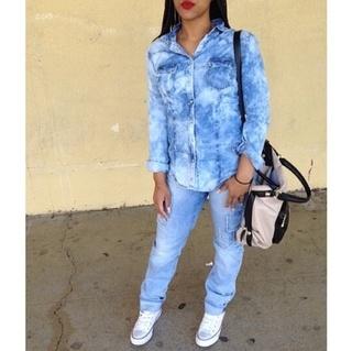 shirt jeans jean shirts blue jean shirt denim denim shirt acid wash bleached denim bleached shirt bag