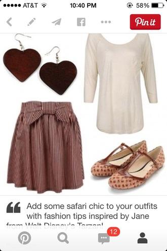 skirt brown skirt big bow