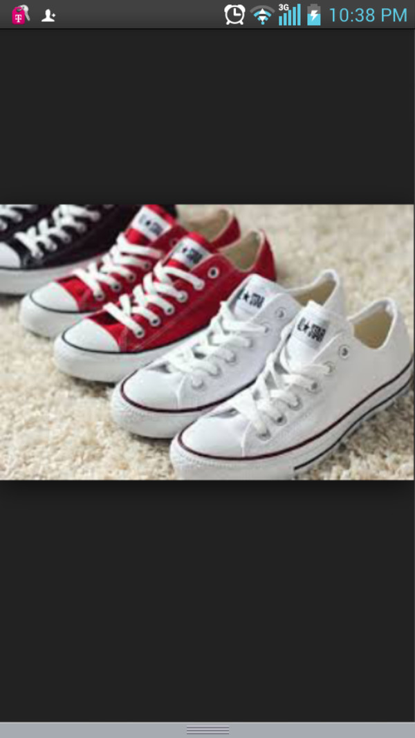 shoes converse all star white and red