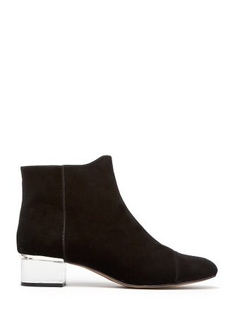 shoes black boots ankle boots booties black booties clear suede boots mid heel boots