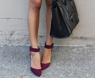 shoes burgundy shoes medium heels a beautiful heart simple dress