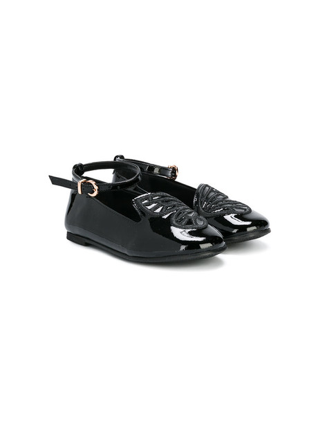 Sophia Webster Mini butterfly leather black shoes