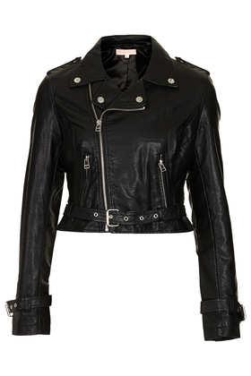 **PU Biker Jacket by Oh My Love - Jackets & Coats  - Clothing  - Topshop