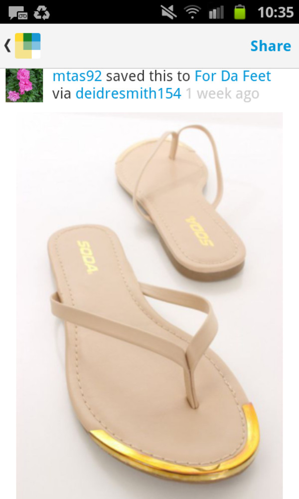 shoes cap toe flip-flops sandals cute