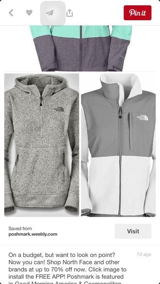 coat grey gray north face cute hoodie