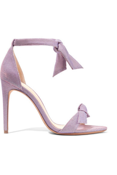 Alexandre Birman bow lovely embellished sandals lavender shoes