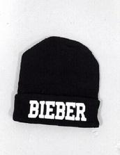 hat,beanie,justin bieber,black