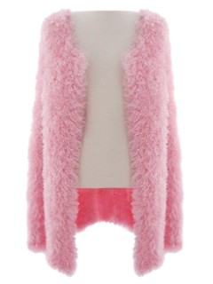 Fluffy cardigan in pink