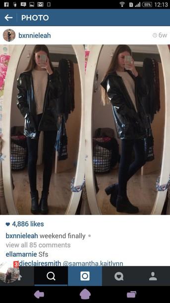 coat raincoat black grunge soft grunge pastel goth