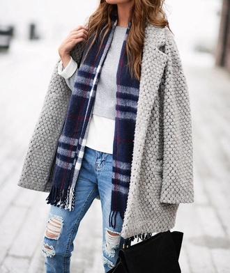 scarf beautiful bleue