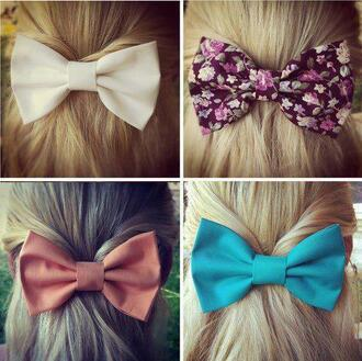 jewels hair hair thing girl girly bow color/pattern floral blonde hair beautiful hair accessory