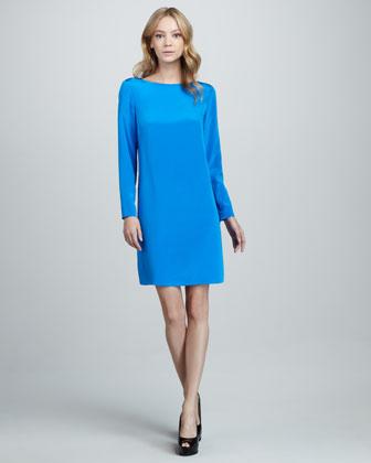 Tibi Silk Easy Dress - Neiman Marcus