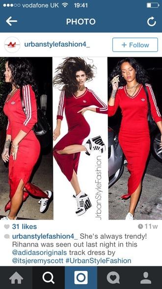 dress adidas long dress rihanna