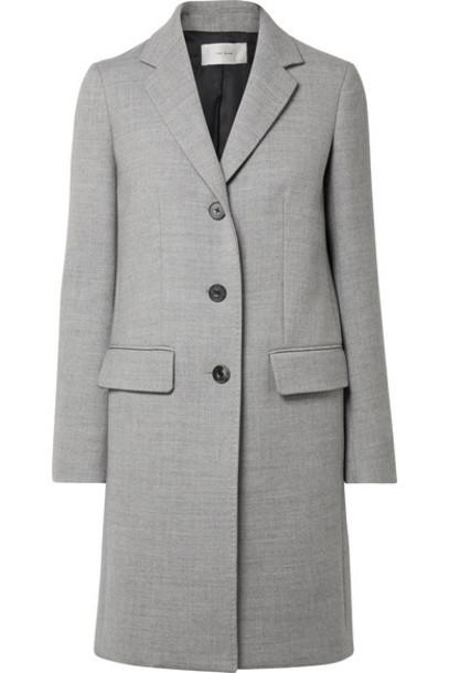 The Row coat light wool