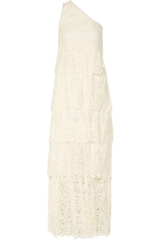 gown lace cream dress