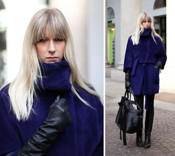 cobalt blue coat fur