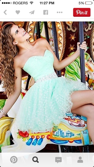 dress blue dress blue beautiful turquoise short black strapless dress strapless shiny sweetheart neckline prom dress homecoming dress high school short fitted dresses