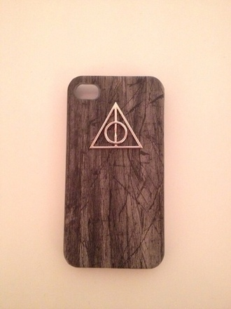 jewels harry potter harry potter and the deathly hallows symbol iphone case wood