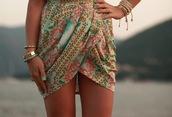 dress,pattern,summer,beach,skirt,tulip skirt,shirt,color/pattern,ibiza,overlay