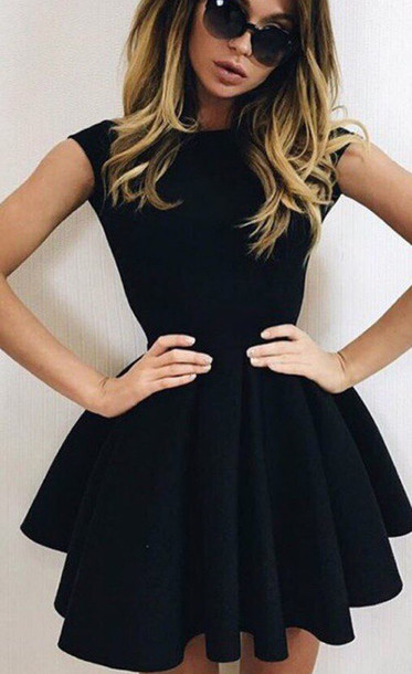 Dress black dress party dress mini dress open back sexy dress zefinka summer chic cute ...