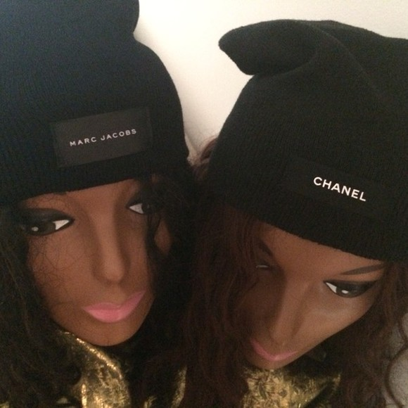 black fashion tumblr sexy tumblr girl chanel marc jacobs chanel inspired black beanie beanie cap hat black and white summer designers high fashiion designer inspired