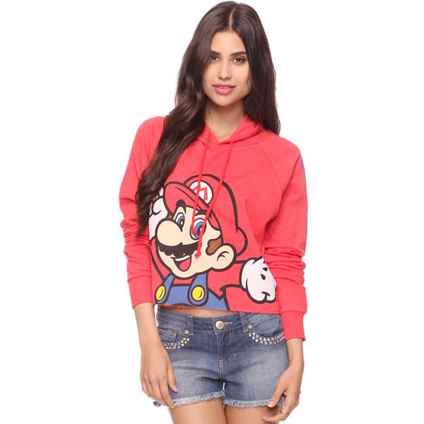 Crop Super Mario Hoodie