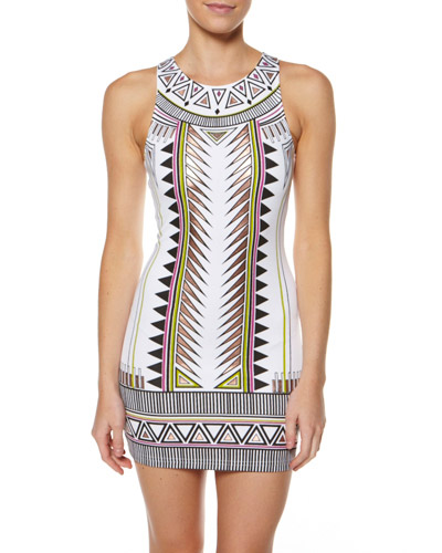 MINKPINK TECHNO TRIBE MINI DRESS - MULTI