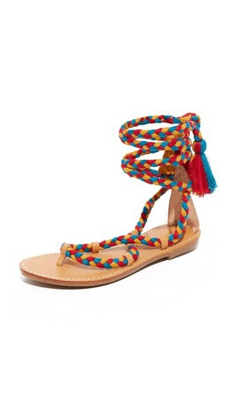 lace up sandals sandals lace gold teal red shoes