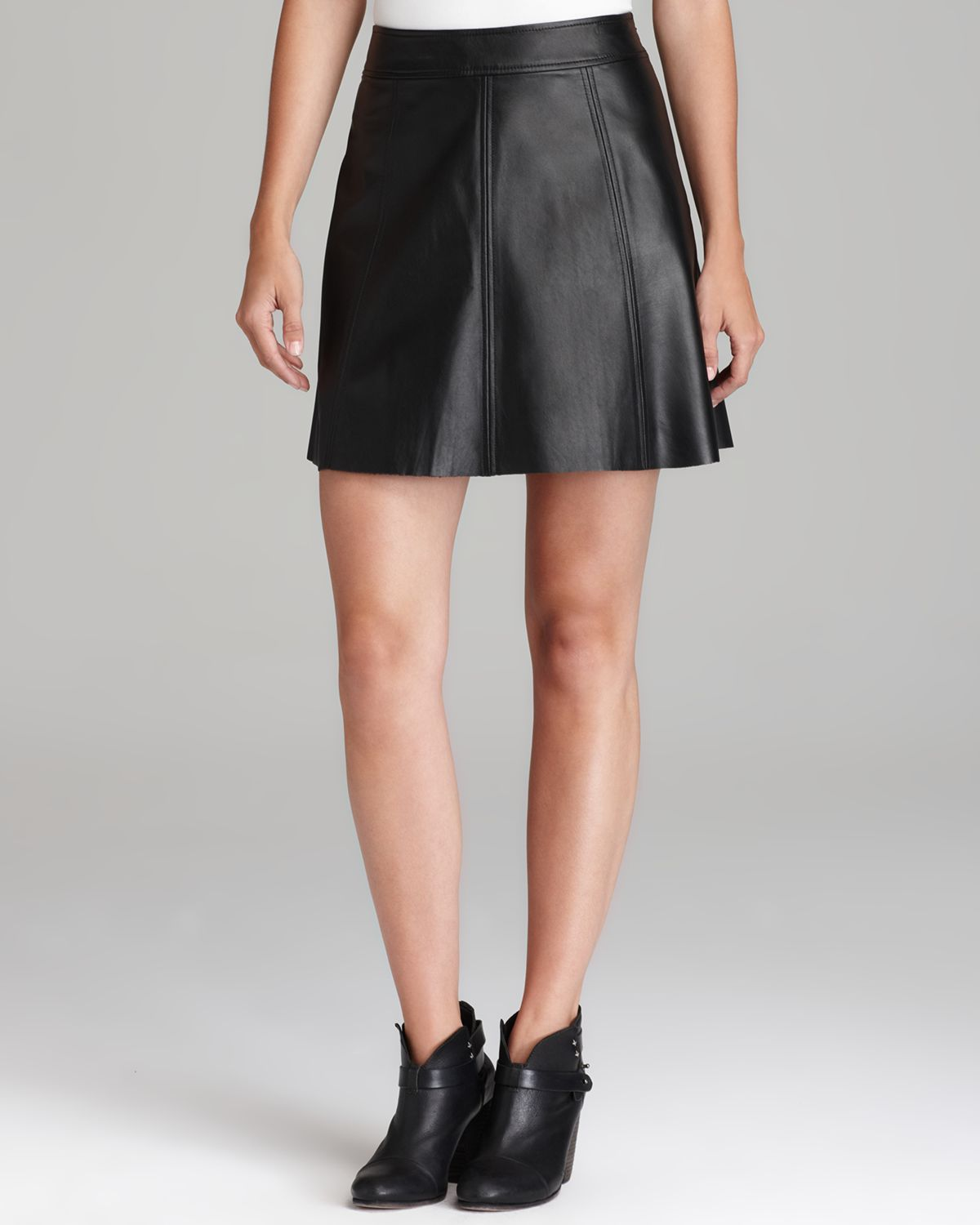 Patterson J Kincaid Skirt Polly Flirty Leather Bloomingdales .