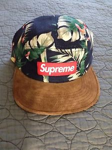 Supreme Navy Floral Camp Cap DS PCL CDG Box | eBay