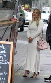dress,white,white dress,hilary duff,pumps,maxi dress